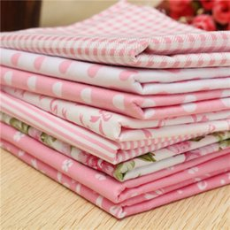 $enCountryForm.capitalKeyWord Canada - 8pcs pink cotton fabric floral cloth patchwork textile for tilda sewing material tissues tecido order<$18no track