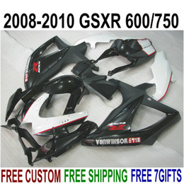 $enCountryForm.capitalKeyWord Australia - ABS fairing kit for SUZUKI GSX-R750 GSX-R600 2008 2009 2010 K8 K9 white black fairings set GSXR 600 750 08-10 TA17