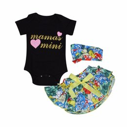 $enCountryForm.capitalKeyWord UK - Newborn Baby Girl Clothes Mama's Mini Letter Short Sleeve Romper Jumpsuit Tutu Shorts Floral Skirts Headband 3PCS Kids Outfits Set 0-24M