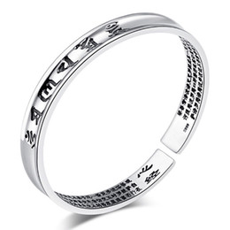 cheap platinum chains Canada - Sutra Namiwaka Paramita Bangles New Cheap Women Wedding White Gold Plating Bracelet Bangles 30% Sterling Thai Silver Heart Fine Jewelry