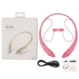 Discount bluetooth neckband for iphone - HBS902 Earphone Universal Wireless Bluetooth CRS4.0 Heavy Bass Stereo Music Neckband Headphones For LG iphone samsung HT