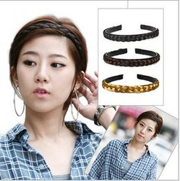 Hair plaits accessories online shopping - 2015 New Synthetic Fashion Hair Band For Woman Plaited Headbands Braided Hair Accessories K5636