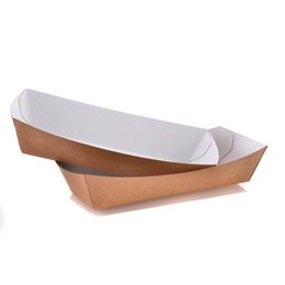 Chinese  Creative Boat Shape French Fries Cup Disposable Eco Friendly Dessert Snacks Cup Box Festival Party Supplies 100pcs lot SK728 manufacturers