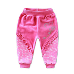 $enCountryForm.capitalKeyWord Canada - 2018 Little Q baby girl velvet long pants summer spring children's clothing british style lace patchwork beads trousers clothes