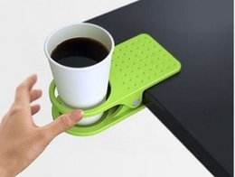 Clamp Cup Holders Canada - Factory Direct Sales Table Glass Water Cups Clip Drinklip Cup Holder Glass Holder Mug Office Tumblerful Glass Clamp 5pcs
