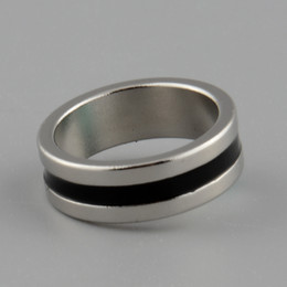 Venda Por Atacado-Hot Novo Forte Magnetic Magic Ring Cor Prata + Dedos Pretos Trick Truque Props Tool Inner Dia 20mm Tamanho L em Promoção