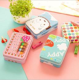 $enCountryForm.capitalKeyWord NZ - cute cartoons mini candy card case jewelry storage box chocolate storage metal tin tinplate box with lids
