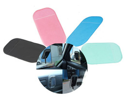 pda cars UK - Powerful Silica Gel Magic Sticky Pad Anti Slip Non Slip Mat for Phone PDA mp3 mp4 Car Accessories Multicolor