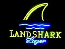 "shark glasses Canada - LAND SHARK SPAYER Logo Neon Sign Handmade Customized Bar KTV Club Store Commercial Advertisement Display Real Glass Tube Neon Signs 17""X14"""