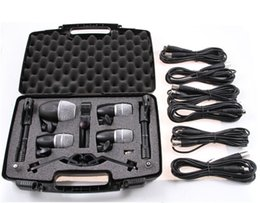 New drum kits online shopping - High quality New packaging PGDMK6 Drum instrument mic Set PG52 PG56 PG81 Drum instrument Piece microphone Kit