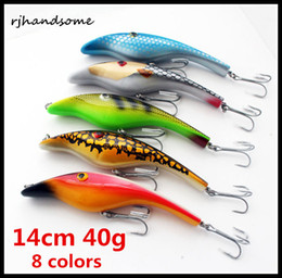 "$enCountryForm.capitalKeyWord Canada - 3D Eyes Pencil lures Zalt Musky Muskie Pike Rare Odyssey 5"" 140mm 40g Piglet Pig Jerk Bait Fishing Lure Bait 8colors"