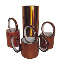 Vente en gros 2016 prix de gros haute température bande 100 rouleaux simple face Kapton bande polyimide film résistant à la chaleur bande, pour BGA s