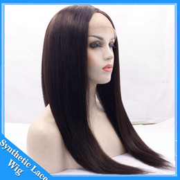 $enCountryForm.capitalKeyWord NZ - Synthetic wigs 180%Density 14-26 Inch Long Silky Straight Black Synthetic Lace Front Wig Brown Color Glueless Heat Resistant Fiber For Women