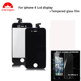 $enCountryForm.capitalKeyWord NZ - Wholesale-Best price and Good quality Black For iPhone 4 LCD Display + Touch Screen digitizer + Frame +tempered glass film free shipping