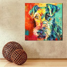 $enCountryForm.capitalKeyWord Canada - 1 Pcs Oil Painting Canvas Art Paintings For Living Room Irish Terrier Wall No Frame Decorative Pictures Canvas Prints No Framed