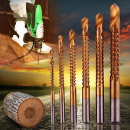 $enCountryForm.capitalKeyWord NZ - 6pcs Professional Titanium Coated HSS Drill Bit Electric Drill Plastic Metal Hole Grooving Drill Saw Carpenter Woodworking Tools