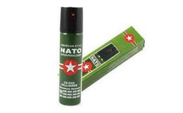 Vente chaude NOUVEAU 2 PCS / Lot OTAN CS-GAZ 60ML PEPPER Parfum SPRAY sexe maniaque Hommes Femmes Sécurité self-défense Livraison gratuite en Solde