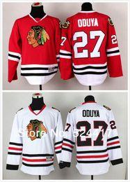 Hockey Team Shirts Canada - 30 Teams-Wholesale stitched 2014 new Chicago Blackhawks 27# Johnny Oduya Ice Hockey Jersey   Brandon Saad hockey shirt