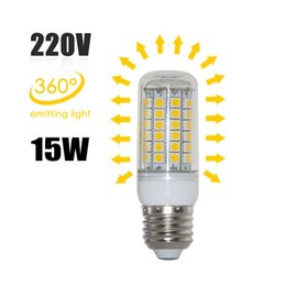 Chinese  2016 Clearance Sales 360 Degree 69pcs LEDs SMD5050 15W E27 LED Corn Bulb Light Lamp AC220V Warm Cold New Lighting For Chandeliers manufacturers