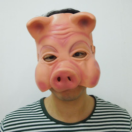 pig face masks Australia - Cute Pig Mask upper half face party mask funny clown mask Halloween Party Mask Animal Mask free shipping