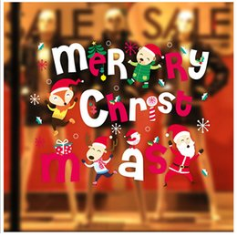 $enCountryForm.capitalKeyWord NZ - 8styles Animals Fox Santa Claus Merry Christmas Window Stickers Wall Decals Xmas Party Decoration Snowflakes Window Decoring Reindeer
