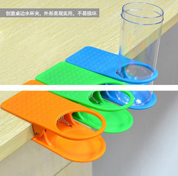 Clamp Cup Holders Canada - 50pcs* Table Glass Water Cups Clip Drinklip Cup Holder Glass Holder Mug Office Tumblerful Glass Clamp