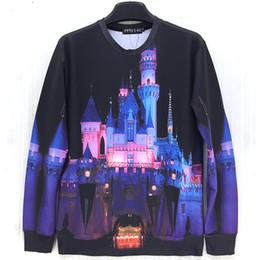 Fairy Castles Canada - Raisevern beautiful Sleeping Beauty Castle print sweatshirt fairy tale women men funny hoodies sweet shirt crewneck cloth sale