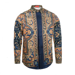 Velour clothing online shopping - 2017 Medusa Business Italy Newest Fashion Long Sleeve Wave Of Men D Floral Print Luxury Brand Clothing Harajuku Casual dress Shirts M XL