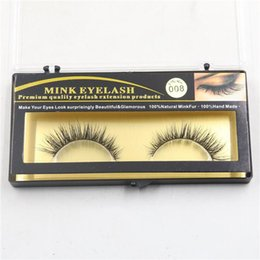 Fur False Eyelashes Canada - False Eyelashes Handmade Natural Long Thick Mink Fur Eyelashes Fake Eye Lash extensions Black Terrier Full Strip Lashes Eye Makeup Free DHL