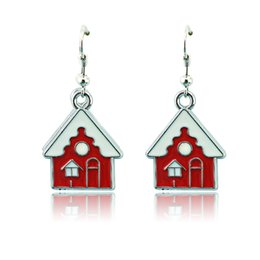 House Plates Australia - New Arrival Charms Earrings Fashion Silver Plated Dangle Alloy House Earrings For Women Charistams Decoration Jewelry