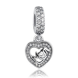 Pandora ale 925 dangles online shopping - Original Charms Mom Love Dangle pandora charms ale Sterling Silver Loose Beads Diy Jewelry For Thread Necklace Bracelet Mother s Day G
