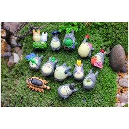2015 Totoro Fairy Garden Miniature Resin Craft Micro Landscape Decoration  For DIY Potted Succulents 12pcs(1 Set) Free Shipping Affordable Miniature  Garden ...