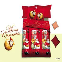 $enCountryForm.capitalKeyWord Canada - Wholesale-popular 3d cartoon bed linen king queen twin size christmas gift bedding set duvet cover flat sheet pillow case 4 pieces kit