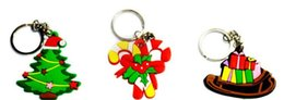 ring ornament UK - Hot Christmas Gift Xmas Tree Ornament Decoration Party Holiday Christmas Gift Key Ring DHL Free