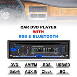 Car Radio Built Speaker Canada - RK-8828B 12V 1 Din Bluetooth Car DVD Player Support VCD SD USB AUX Built-in AM FM RDS Radio Stereo CMO_21R