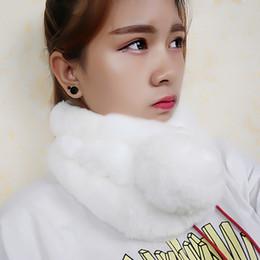 Pink rabbit fur scarf online shopping - Real Rex Rabbit fur Scarf Fur scarves Neck warmer Neckscarf