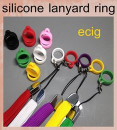 Ring foR evod online shopping - E cigarette ego silicone Lanyard Ring necklace ring For CE atomizer T3S T4 EVOD Atomizer Silicone Necklace Ring Fit eGo t eGo c twist FJ048