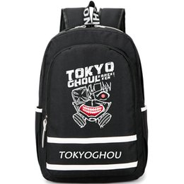 Tokyo ghoul school bag online shopping - Kaneki Ken backpack Tokyo Ghoul day pack Hot anime school bag Cartoon rucksack Sport schoolbag Outdoor daypack