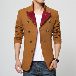 Discount Mens Pea Coat Red | 2017 Mens Red Pea Coat Jackets on ...