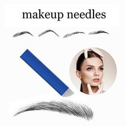 $enCountryForm.capitalKeyWord Australia - eyebrow needle 50 PCS Blue 13-Pin Permanent Makeup Manual Eyebrow Needles Blade for 3D Embroidery Microblading Tattoo Pen Machine