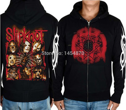 $enCountryForm.capitalKeyWord Australia - Wholesale-Super Cool Hot Sale slipknot Band 100%Cotton Rock Hoodies Winter jacket Shirt hardrock Death Punk Black Metal Sweatshirt Rocker