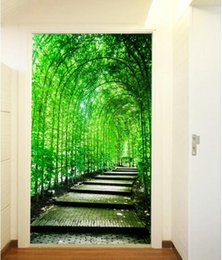 textile painting Canada - 3d room wallpaper custom photo non-woven mural Bamboo lane landscape painting picture 3d wall murals wallpaper for walls 3 d