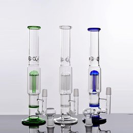 Bong Water Tree Canada - 2016 New Mobius Three Colors Water Pipe Honeycomb And Tree Perc Glass Bong Straight Tube Bongs Hot Sell Oil Rig Glass Pipe