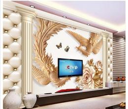 $enCountryForm.capitalKeyWord Canada - 3d wallpaper TV background wallpaper the living room sofa backdrop mural Phoenix pillars leather mural wallpaper 201515032