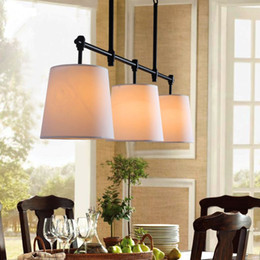 American Country Of Scandinavian Minimalist Modern Iron Chandelier Style Dining Room Bedroom Three Head Lamp LL62