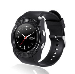 $enCountryForm.capitalKeyWord Australia - V8 Smartwatch Bluetooth Smart Watch With 0.3M Camera SIM And TF Card Watch For Android System S8 IOS Iphone Smartphone In Box