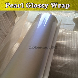 white wrap for cars Canada - Premium Pearl Gloss Vinyl White   blue Pearl Car wrapping Film with Bubble Free For Car Stickers FedEx FREE SHIPPING Size: 1.52*20m Roll