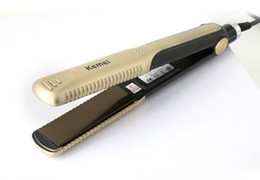 gold hair straightener NZ - Kemei 327 New hair straighteners Professional Hairstyling Portable Ceramic Hair Straightener Irons Styling Tools DHL free