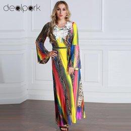 5XL 6XL Maxi Long Dresses Women Plus Size Dress Contrast Color Flare Long  Sleeves Belt Lace Colorful Elegant A-Line Dress female q1113 94905a9bb31b