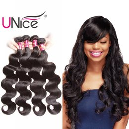 $enCountryForm.capitalKeyWord NZ - UNice Hair 4 Bundles Body Wave 8-30inch Mix Length Brazilian Peruvian Virgin Human Hair Extensions Indian Malaysian Wholesale Remy Hair